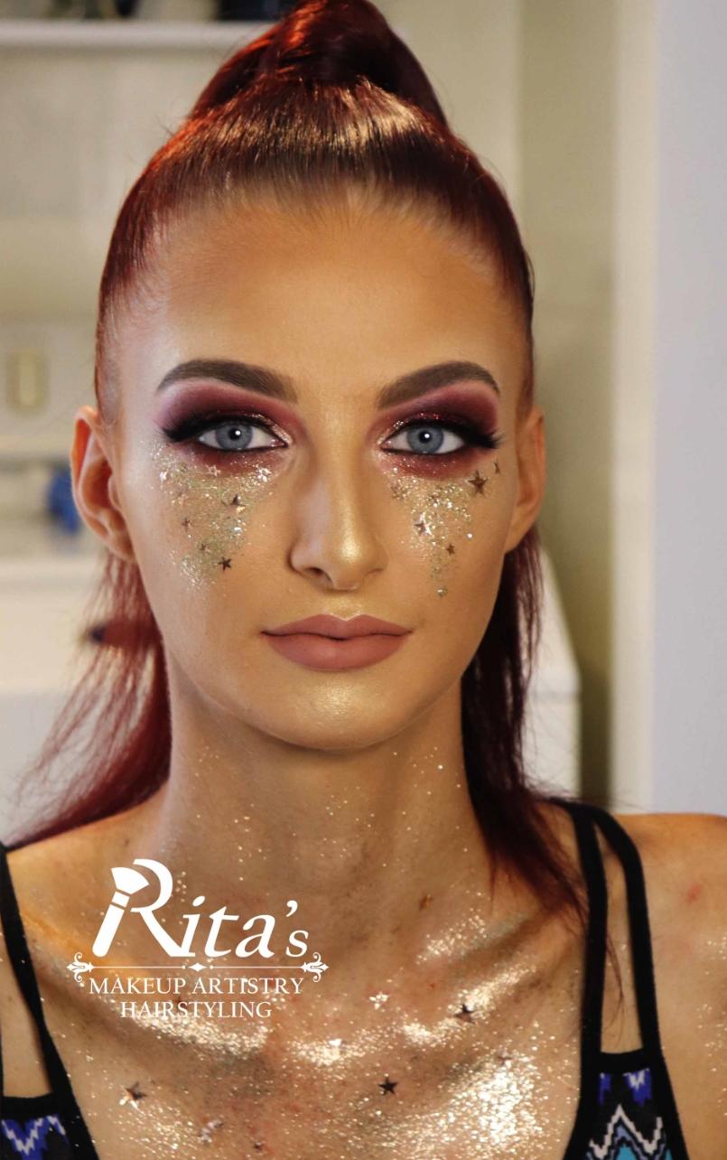 Rita's Makeup Artistry Bridal costume makeup